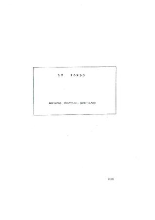 Pdf de la DGF et l'inventaire papier du fonds L. Caufriez - Brouillard.